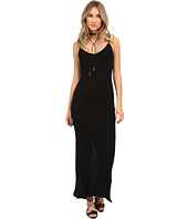 HEATHER - Rib Slit Back Maxi Dress