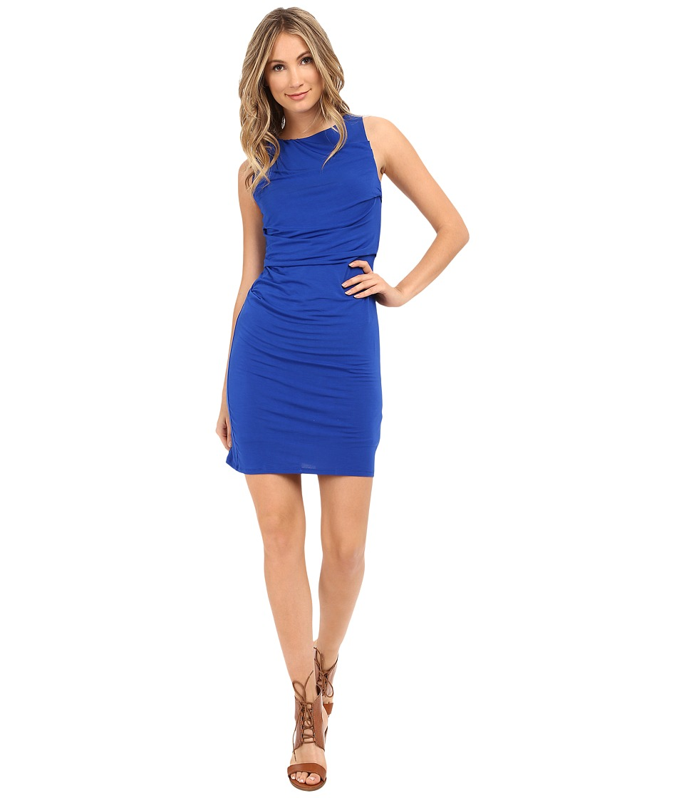 HEATHER Drape Front Dress Cobalt Womens Dress