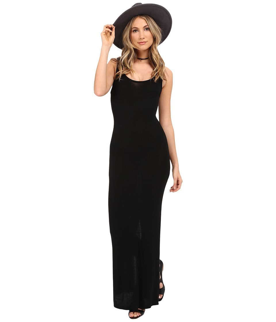 HEATHER Scoop Neck Maxi Tank Dress (Black) Women