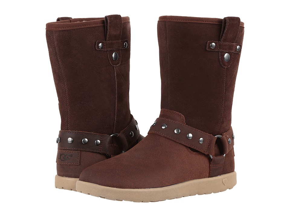UGG Kids Moto Short (Little Kid/Big Kid) (Chocolate) Girls Shoes