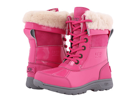 UGG Kids Butte II Patent (Little Kid/Big Kid) - Diva Pink