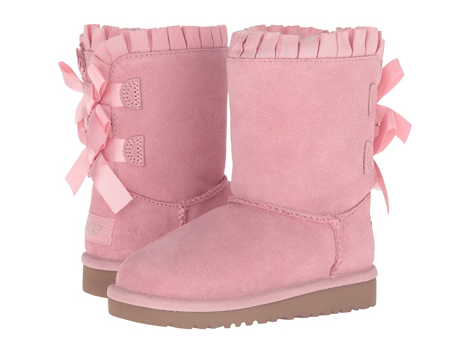 UGG Kids Bailey Bow Ruffles (Toddler/Little Kid) (Baby Pink) Girls Shoes