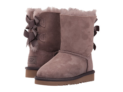 UGG Kids Bailey Bow (Toddler/Little Kid) - Stormy Grey