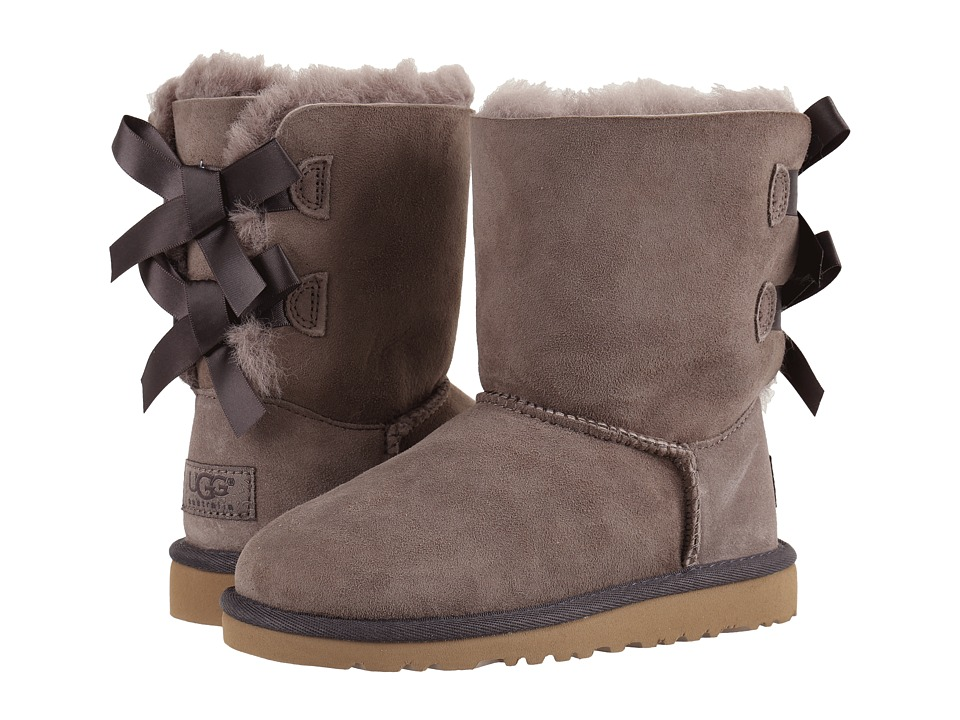 UGG Kids Bailey Bow (Little Kid/Big Kid) (Stormy Grey) Girls Shoes