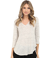 HEATHER - Linen 3/4 Sleeve Swing Tee