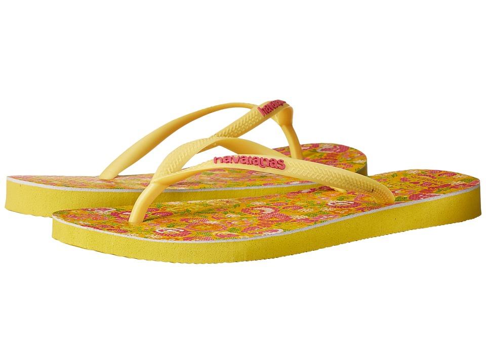 Havaianas Slim Liberty Sandal Revival Yellow Womens Sandals