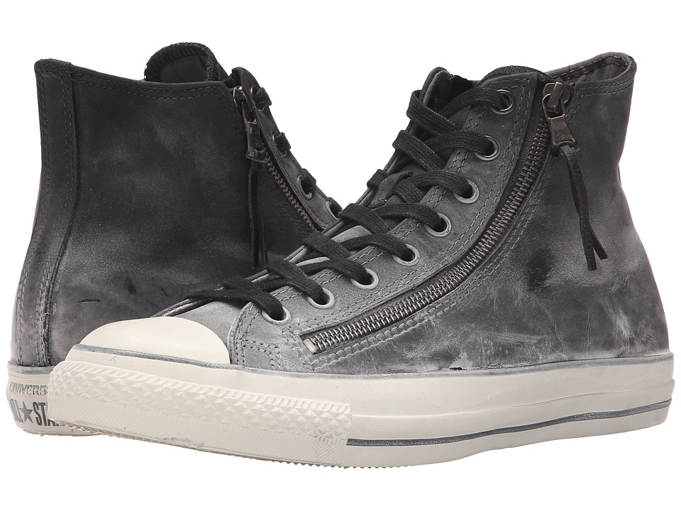 Converse by John Varvatos Chuck Taylor All Star Double Zip Hi Black/Beluga/Turtledove Lace Up Cap Toe Shoes