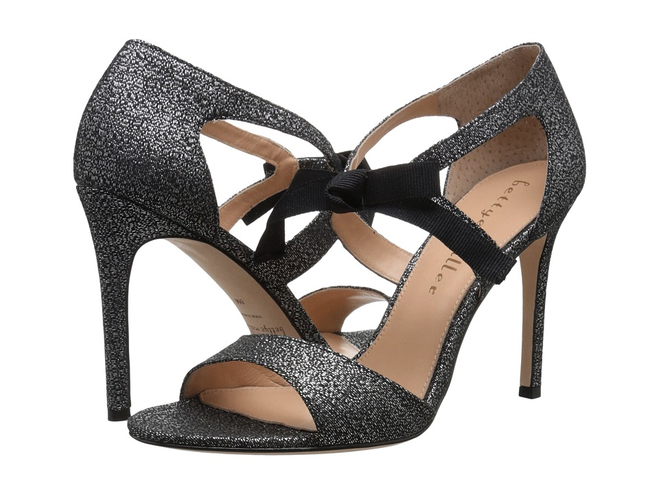 Bettye Muller Dreamy Gunmetal Brocade High Heels