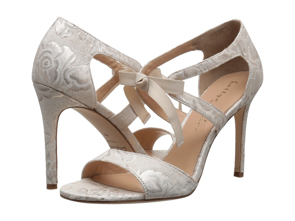 Bettye Muller Dreamy Ivory Brocade High Heels