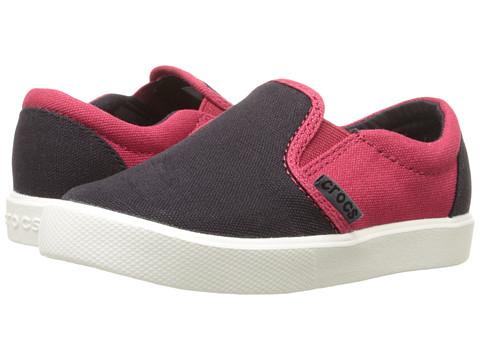 Crocs Kids CitiLane Novelty Slip-On Sneaker (Toddler/Little Kid) - Black/Pepper