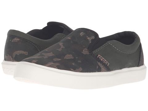 Crocs Kids CitiLane Novelty Slip-On Sneaker (Toddler/Little Kid) - Camo