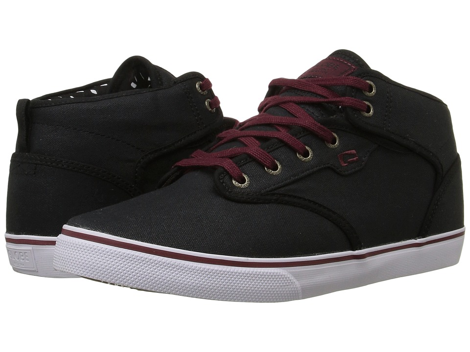 Globe Motley Mid (Black/Burgundy) Men