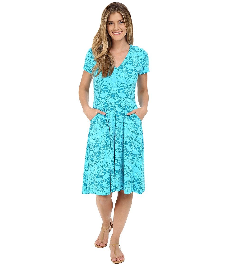 Fresh Produce Gecko Sea Song Dress Luna Turquoise Womens Dress