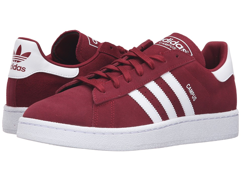 adidas Originals - Campus (Collegiate Burgundy/Footwear White/Footwear White) Men
