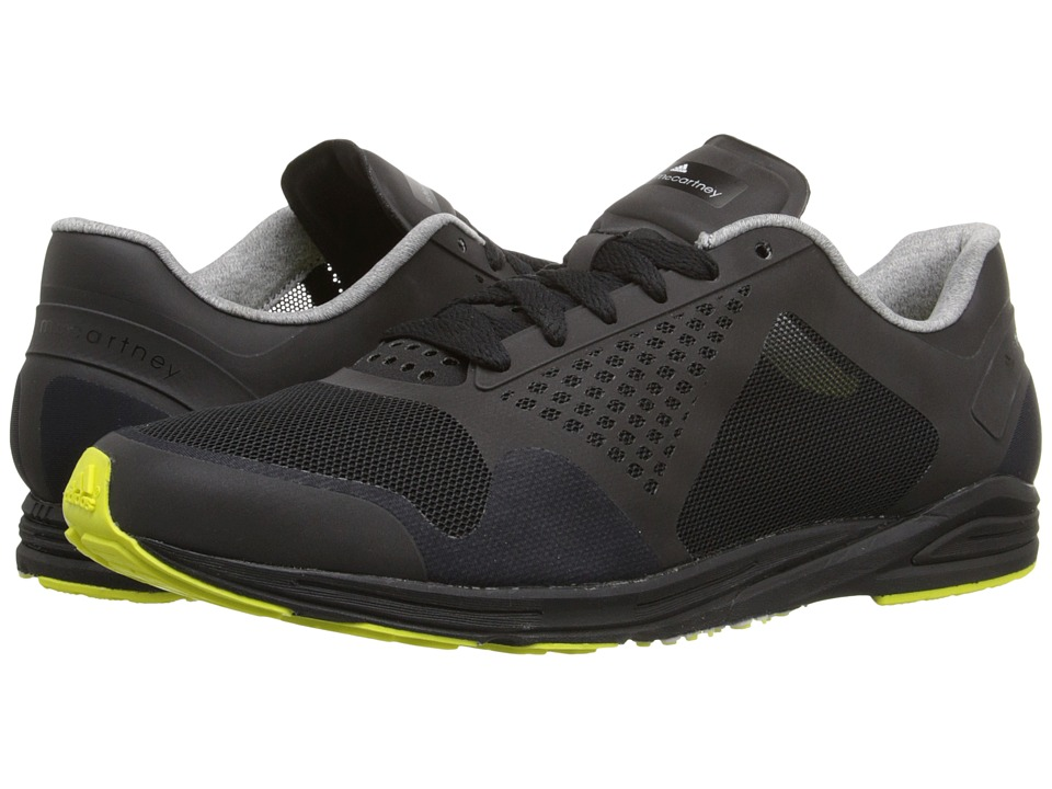adidas by Stella McCartney Adizero Racing Core Black/Core Black/Lab Lime F12 Womens Lace up casual Shoes