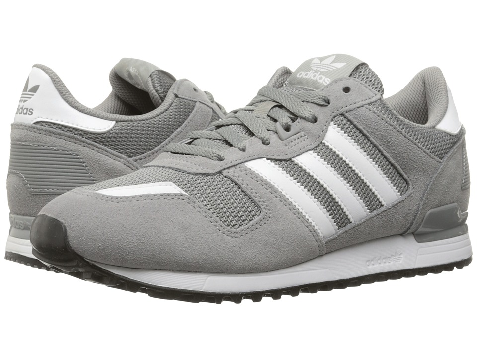 adidas Originals - ZX 700 (Charcoal Heather Solid Grey/Footwear White/Core Black) Men