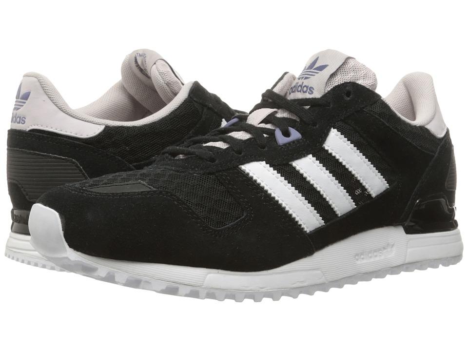 adidas Originals ZX 700 Core Black/Footwear White/Ice Purple Womens Running Shoes
