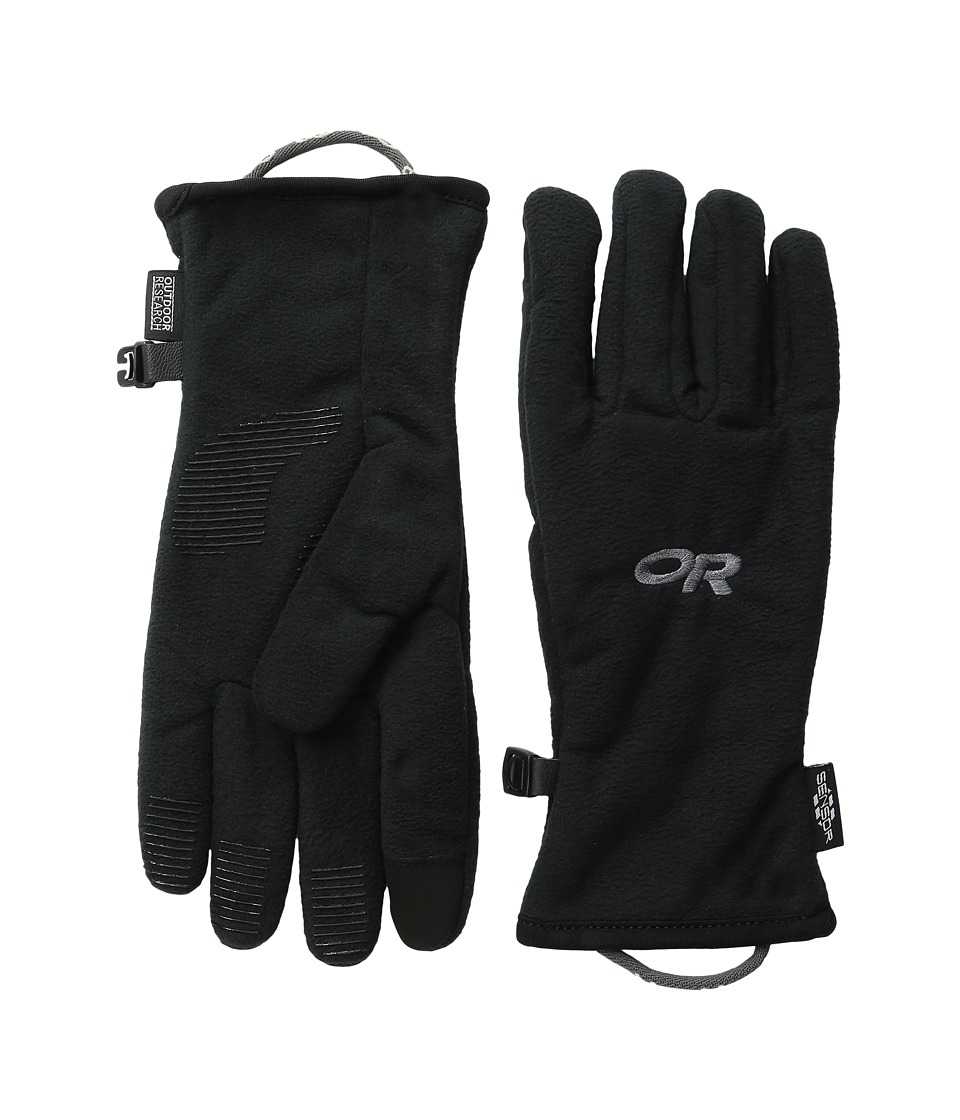 Outdoor Research Fuzzy Sensor Gloves (Little Kid) (Black) Extreme Cold Weather Gloves
