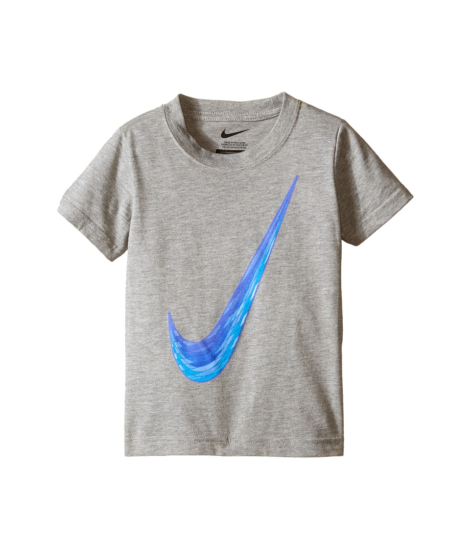 Nike Kids Blur Swoosh Short Sleeve Tee Toddler Dark Grey Heather Boys T Shirt