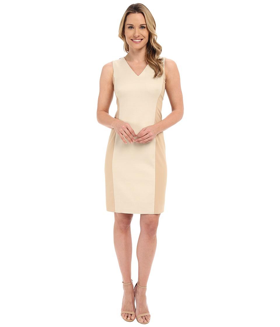 Ellen Tracy Hopsack Fitted Sheath Dress New Dune Womens Dress