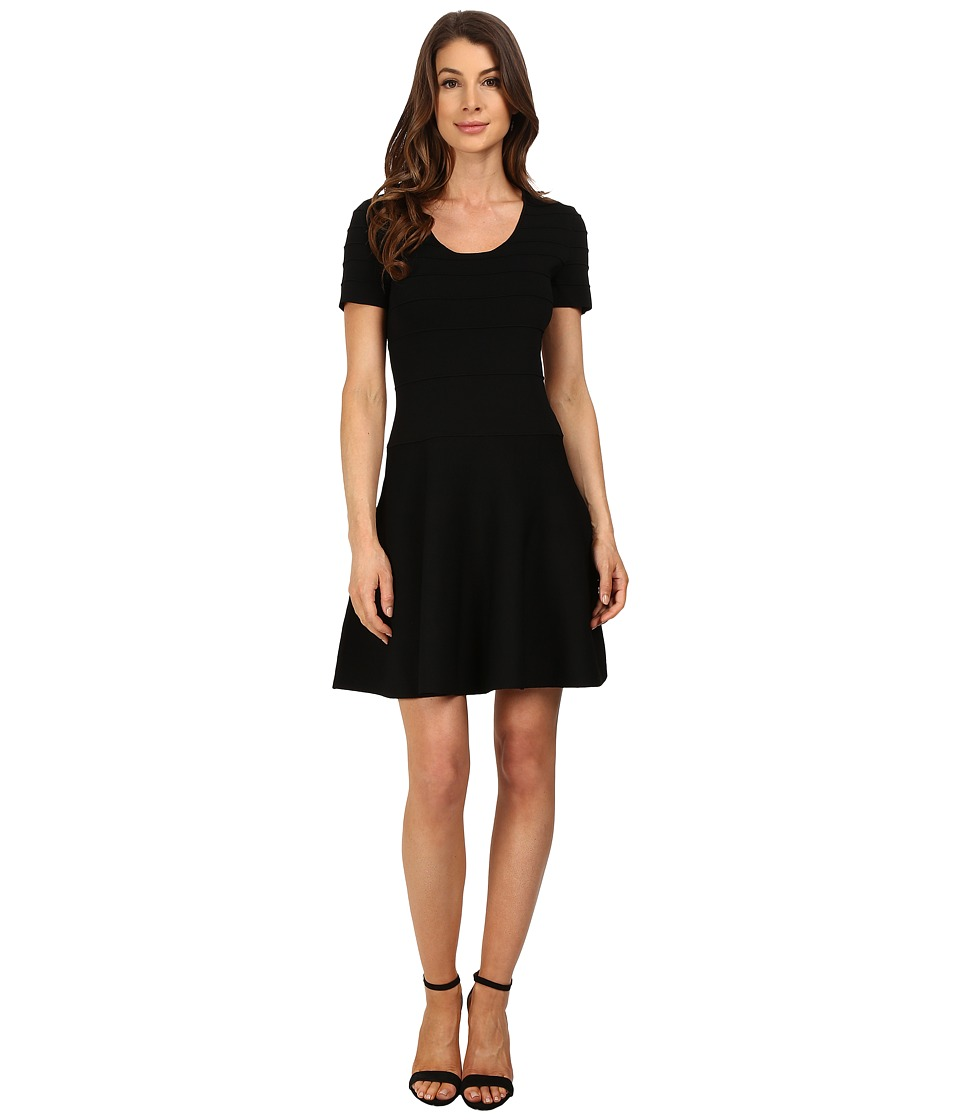 Ellen Tracy Gradated Ottoman Dress E Black Womens Dress