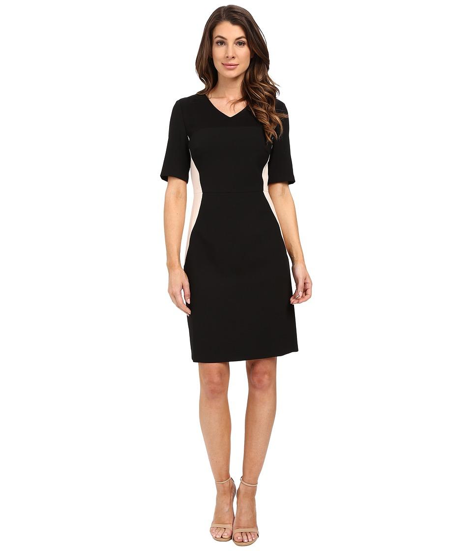 Ellen Tracy Fittted Elbow Sleeve Sheath Dress E Black Womens Dress