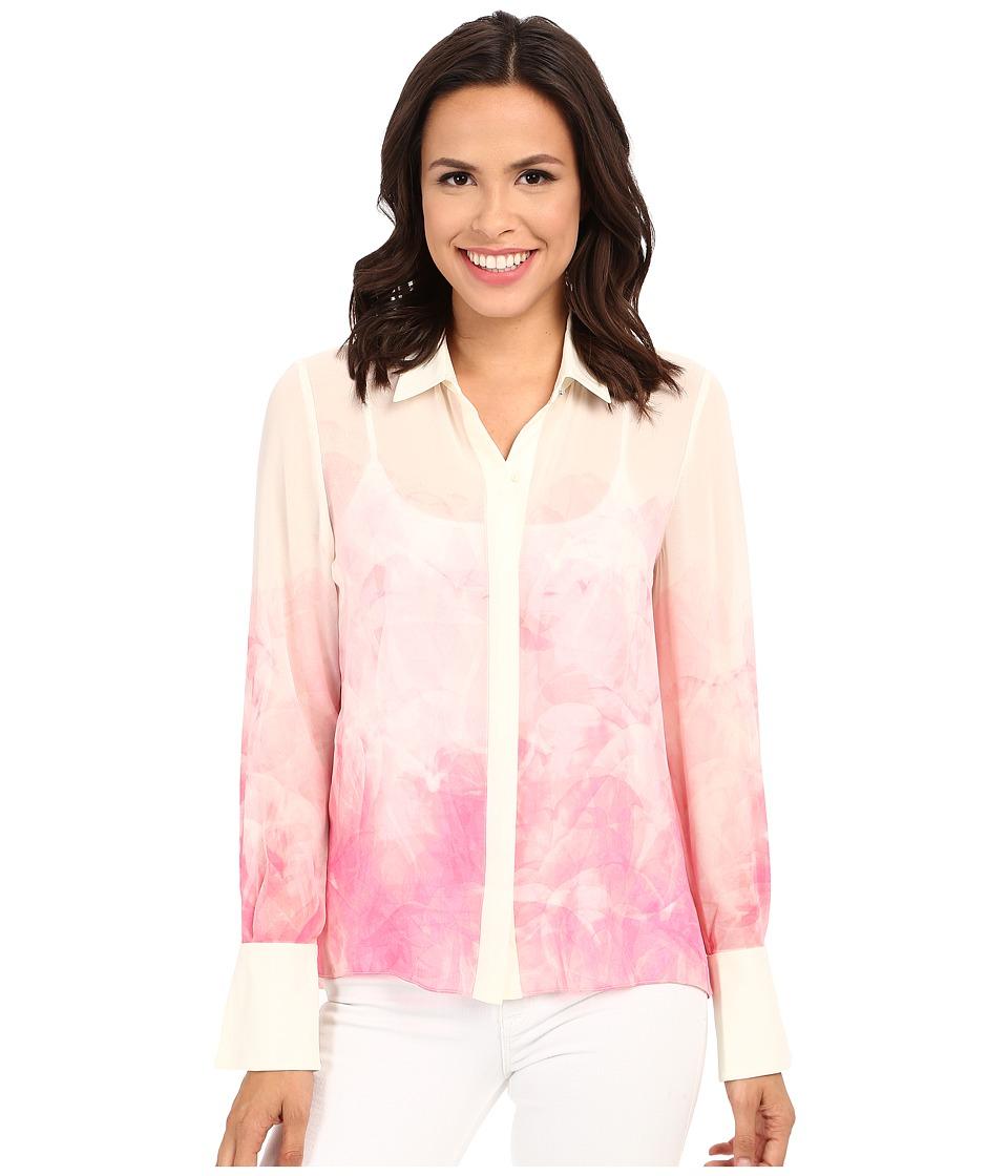 Ellen Tracy Soft Shirt Lucent Petals Azalea Womens Clothing