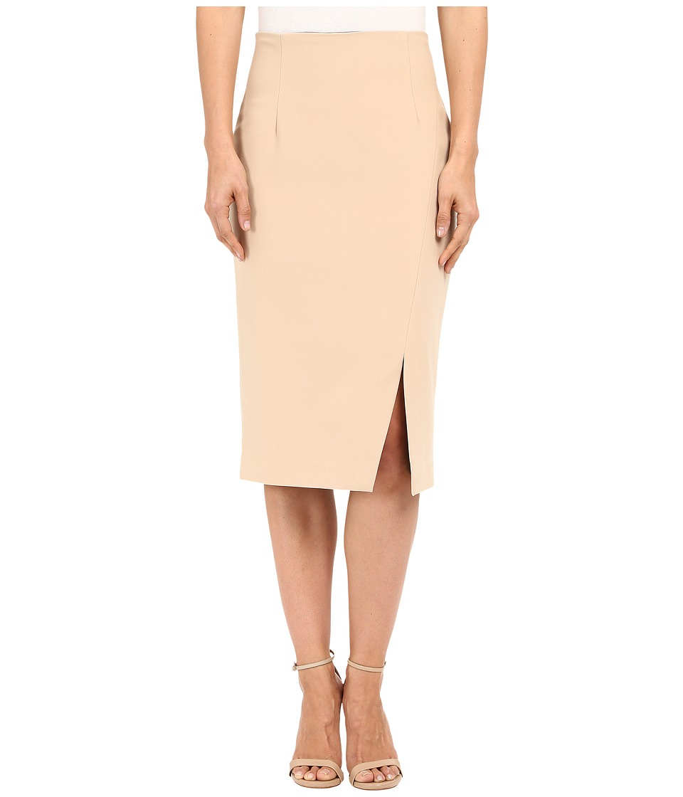 Ellen Tracy Asymmertrical Pencil Skirt Almond Womens Skirt