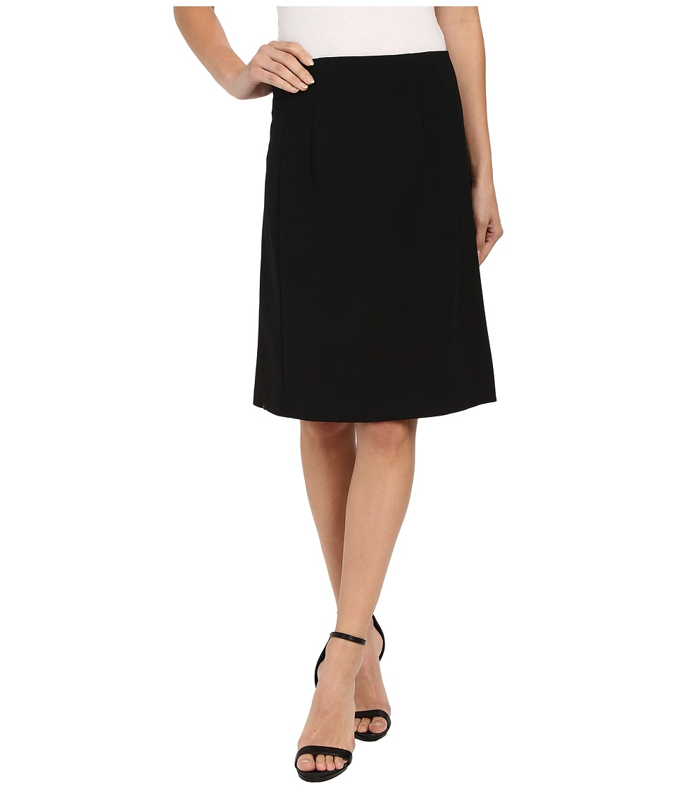 Ellen Tracy A Line Skirt E Black Womens Skirt