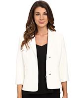 Ellen Tracy - Hidden Zip Front Blazer