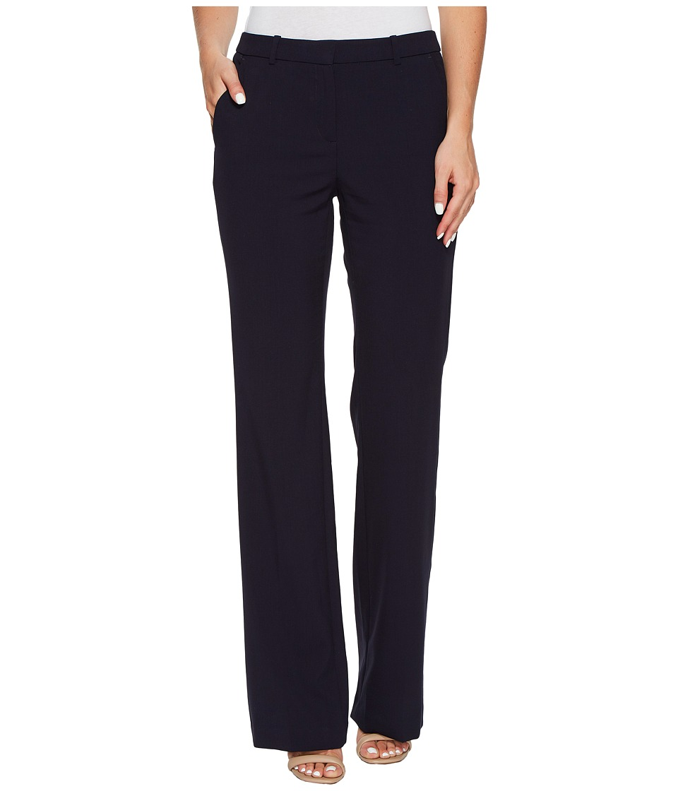 Ellen Tracy Flare Leg Trousers (E Navy) Women