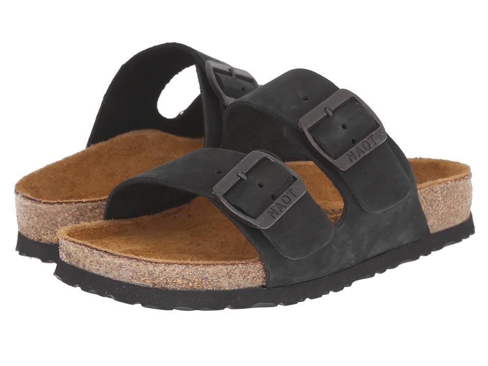 Naot Footwear Santa Barbara (Black Nubuck) Sandals