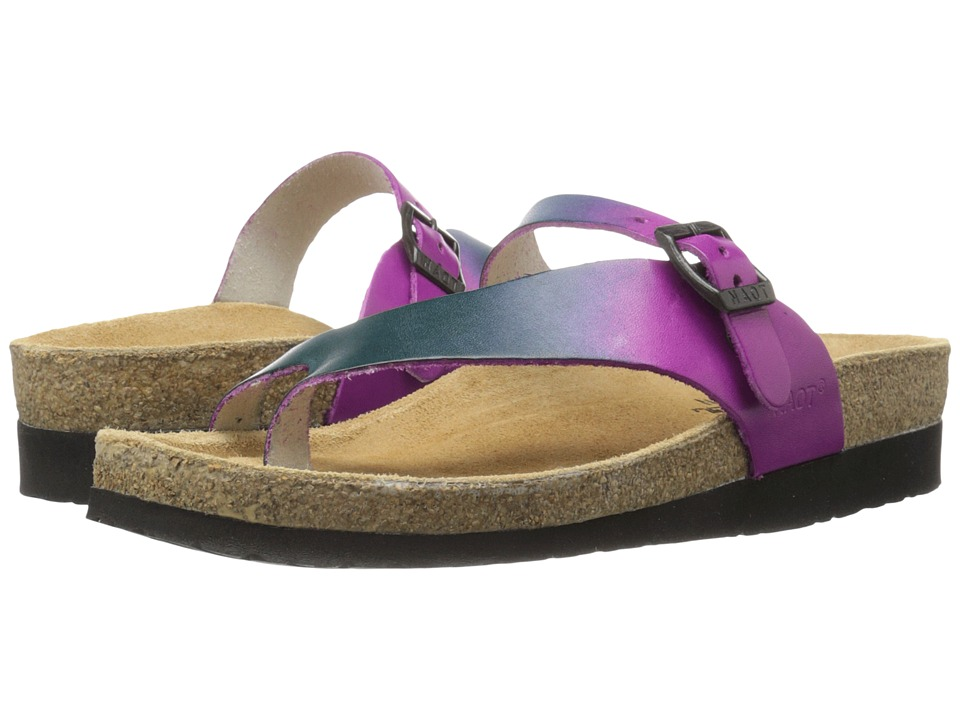 Naot - Tahoe - Hand Crafted (Purple Teal Leather) Womens Wedge Shoes