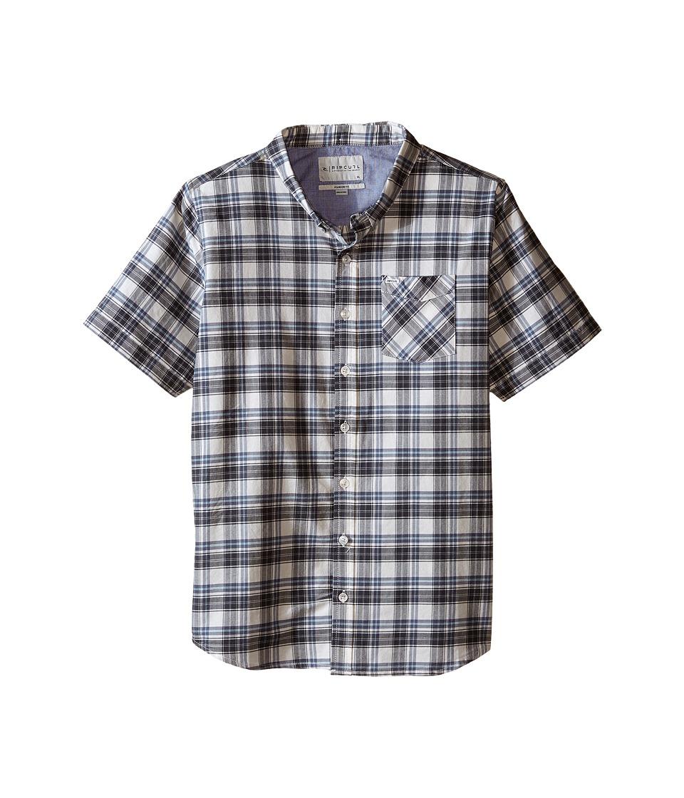 Rip Curl Kids Delgado Short Sleeve Shirt Big Kids Off White Boys Short Sleeve Button Up