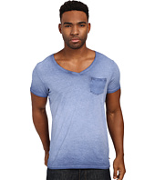 Scotch & Soda - Oil Washed Short Sleeve Tee with Chest Pocket