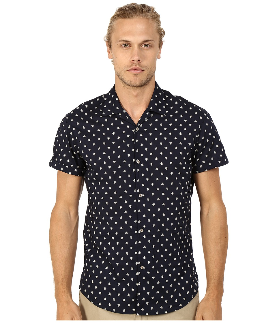 Scotch amp Soda All Over Printed Short Sleeve Shirt in Hawaii Styling Night Mens Short Sleeve Button Up
