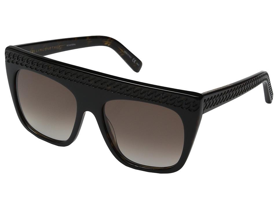 Stella McCartney SC0019S Black/Brown Gradient Fashion Sunglasses