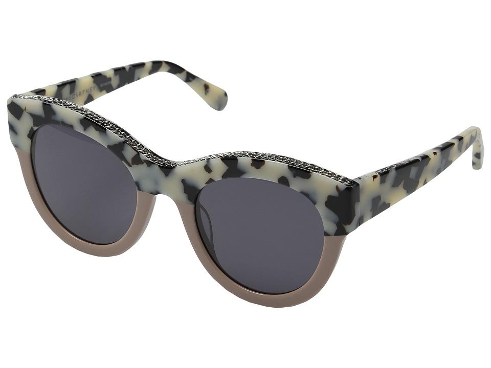Stella McCartney SC0018S White Havana/Light Pink/Grey Fashion Sunglasses