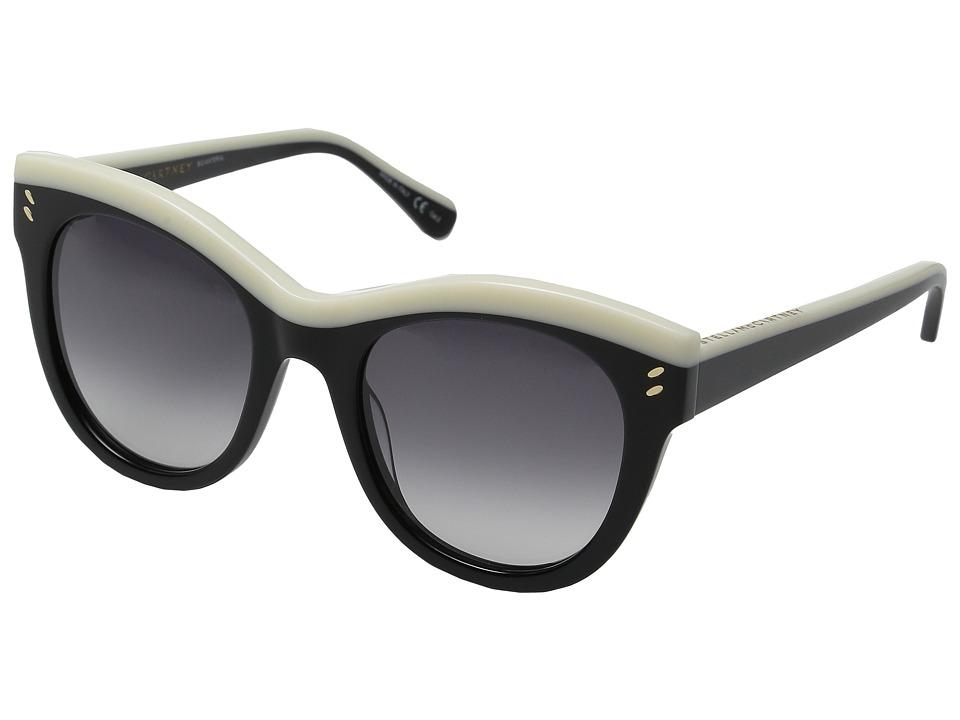 Stella McCartney SC0021S Black/Ivory/Grey Gradient Fashion Sunglasses