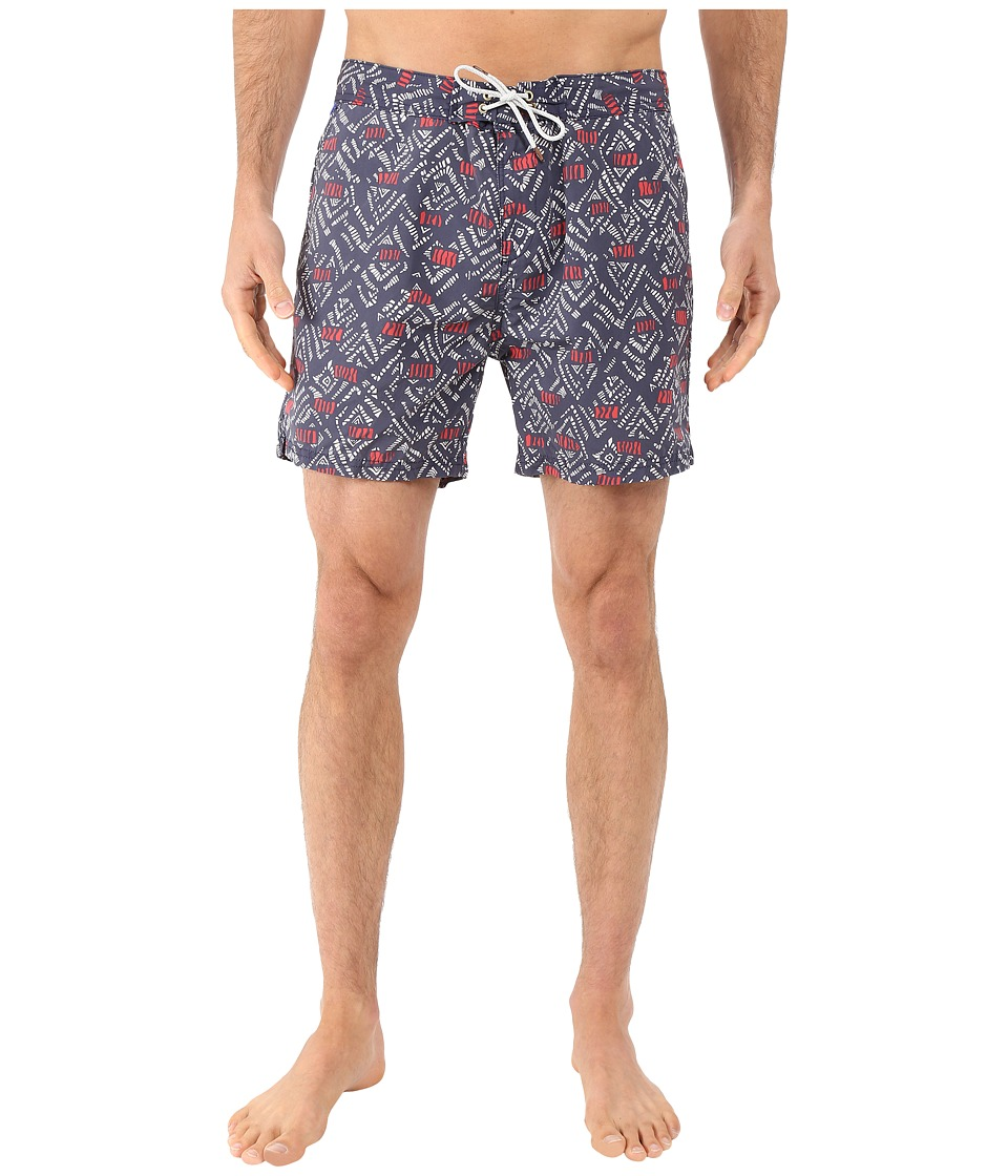 Scotch amp Soda All Over Printed Swim Shorts in Fine Peached Quality Night Mens Swimwear