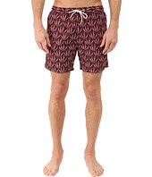 Scotch & Soda - Short Length All Over Printed Swim Shorts with Soft Touch in Cotton/Nylon Quality