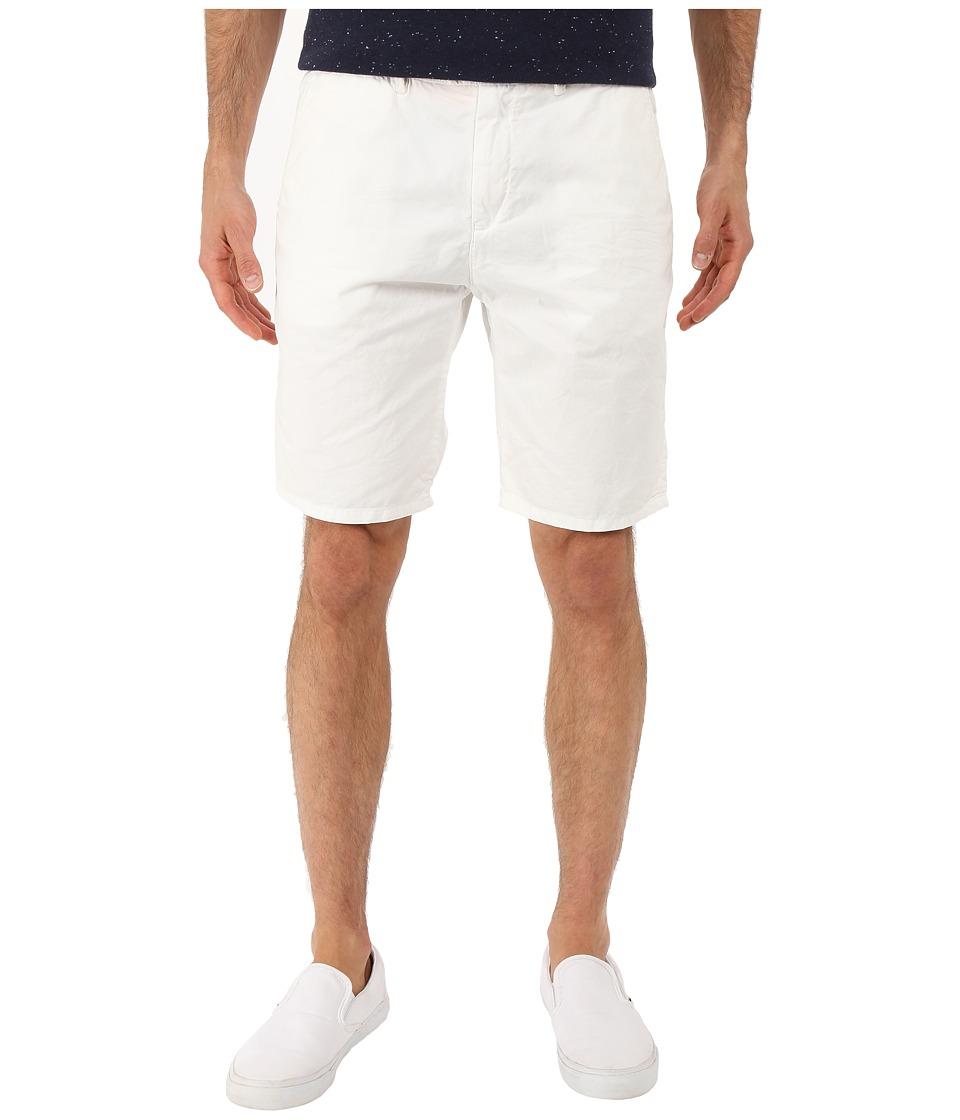 Scotch amp Soda Basic Pima Cotton Chino Shorts White Mens Shorts