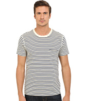7 For All Mankind - Short Sleeve Stripe Ringer Tee