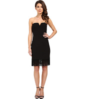 Aidan Mattox - Strapless Crepe Cocktail Dress with Fringe Hem Detail