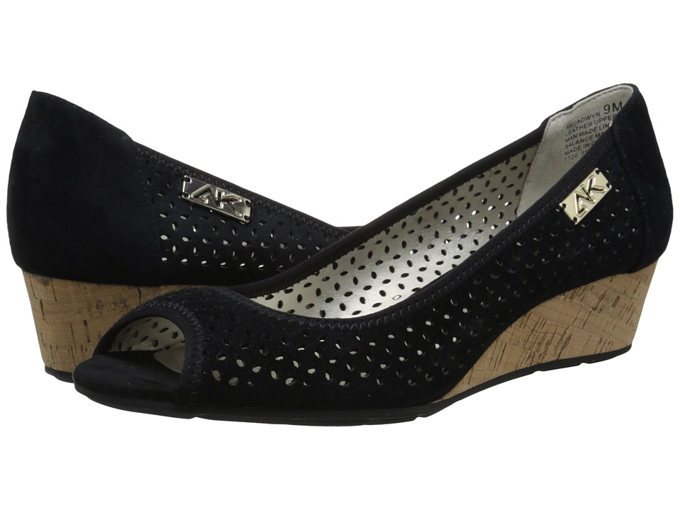 Anne Klein - Cadwyn (Black) Womens Wedge Shoes