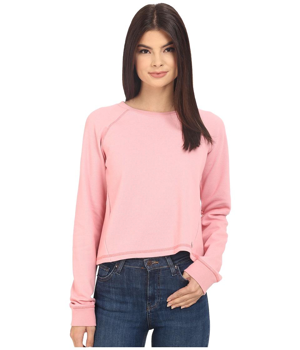 Bench Contemplation Overhead Pullover Sweatshirt Salmon Rose Womens Sweatshirt