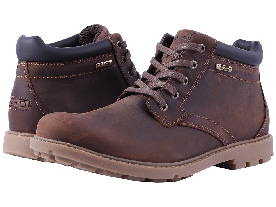 Rockport Rugged Bucks Waterproof Boot (Boston Tan) Men