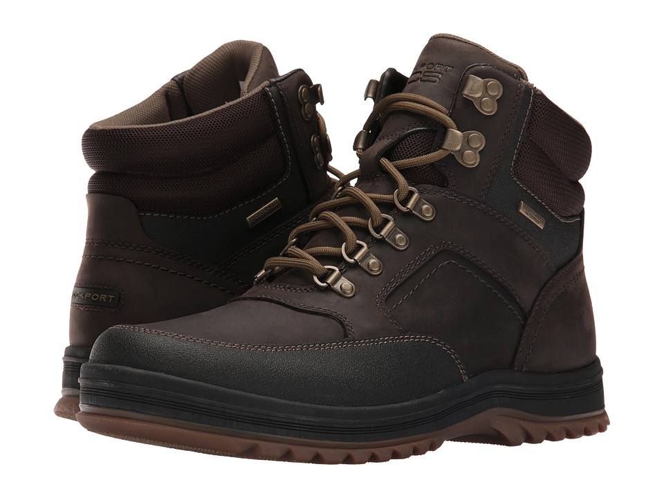 Rockport World Explorer Mid Waterproof Boot (Dark Bitter Chocolate) Men