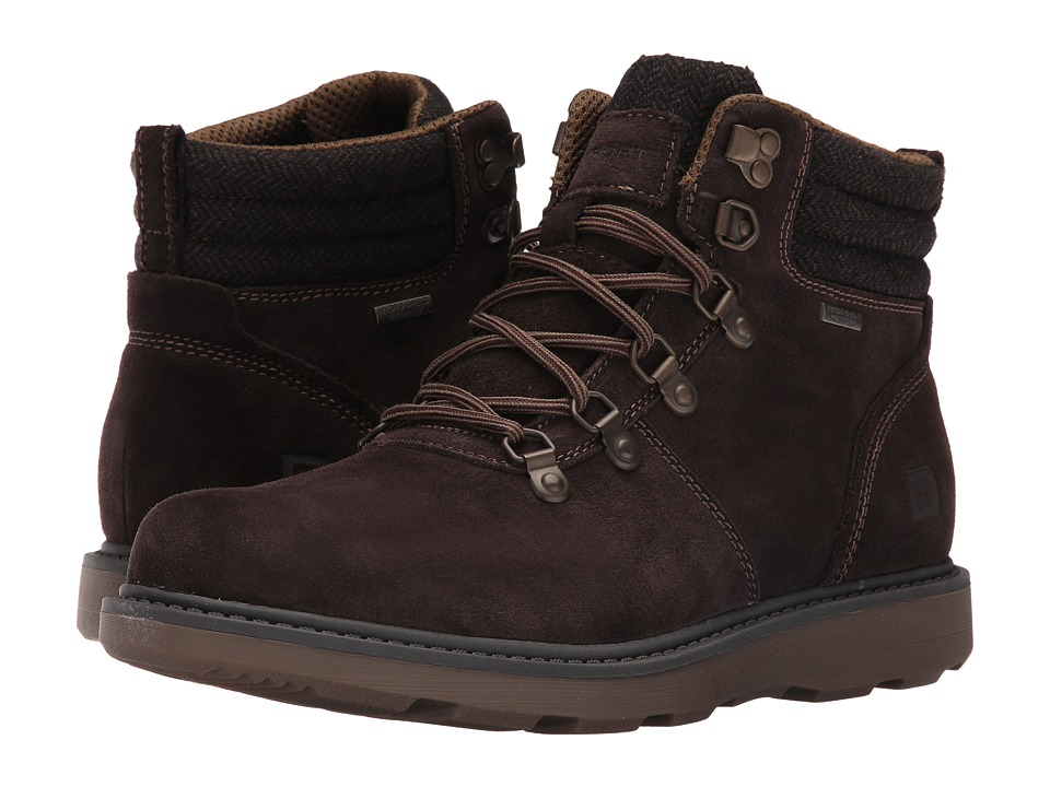 Rockport Boat Builders D-Ring Plain Toe Boot (Dark Bitter Chocolate Suede) Men