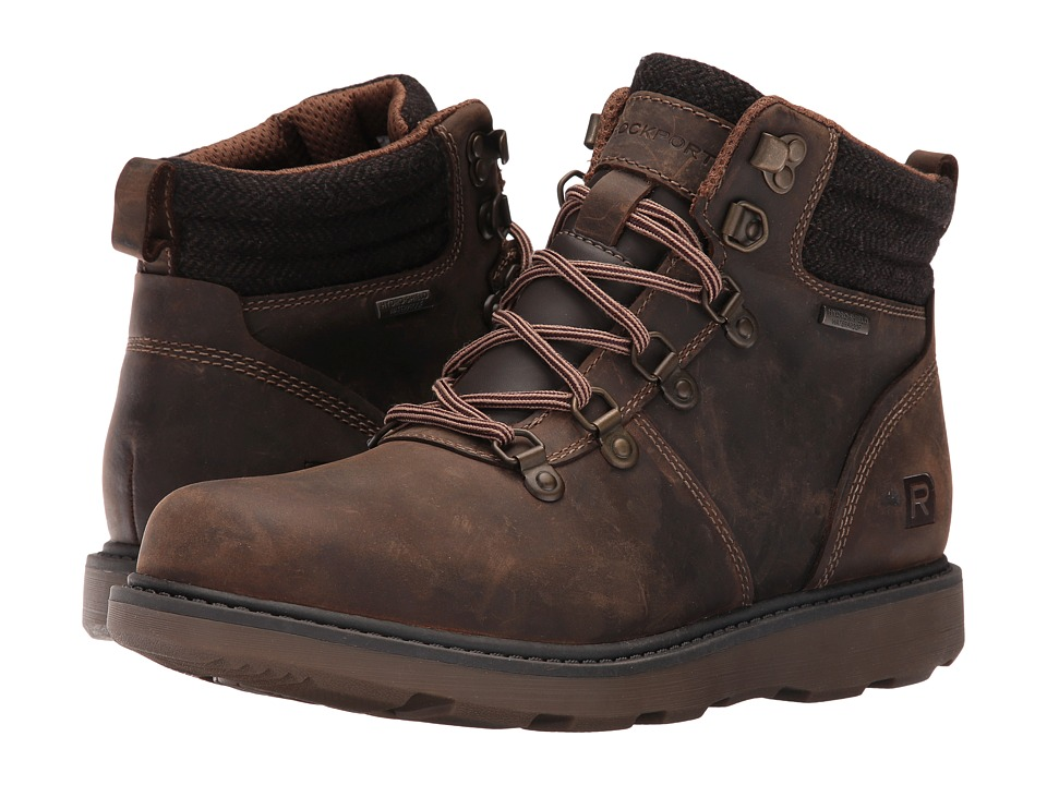Rockport Boat Builders D-Ring Plain Toe Boot (Dark Brown) Men